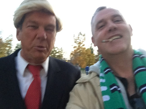 Mark with Trump lookalike