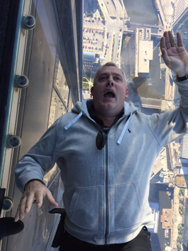 Mark in Sears Tower - Chigago